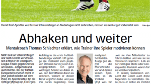 Thomas Schlechter in den Ruhrnachrichten Woche 24/2012 Abhaken und weiter