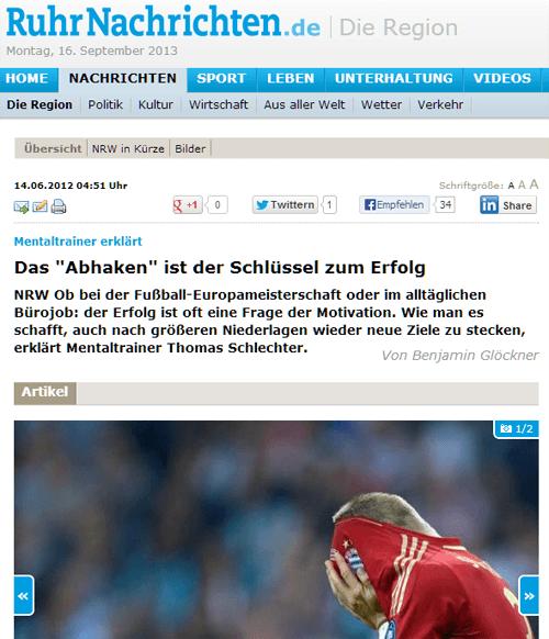 Thomas Schlechter in Wissen und Karrier Ruhrnachrichten 14/06/2012