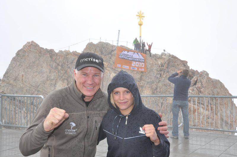 Zugspitz-Gipfelmotivation - Teilnehmerin Christina Rupprecht Deutsche Meisterin im Boxen