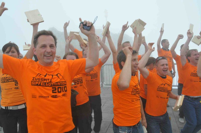 Zugspitz Gipfelmotivation - Alle haben den Durchbruch geschafft