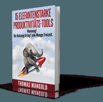 "E-Book ""15 elefantenstarke Produktivitätstools"""