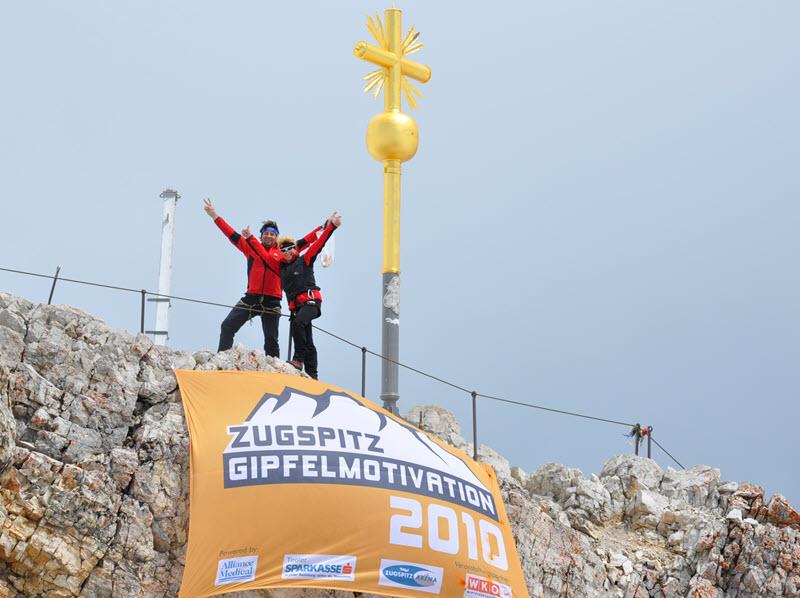 Zugspitz-Gipfelmotivation - Durchbruch auf dem Gipfel