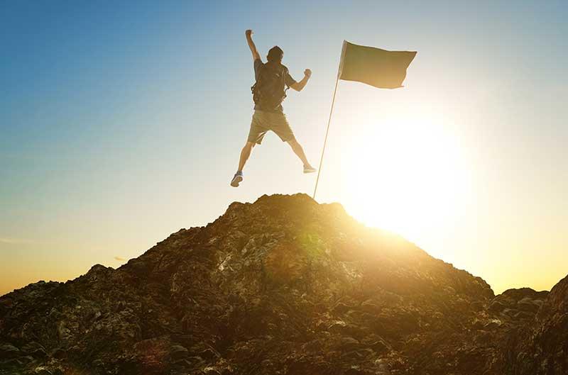 Ein Durchbruch am Gipfel als lebensveränderndes Erlebnis