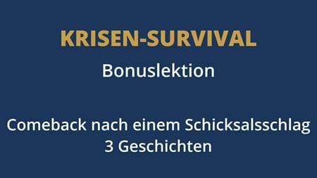 Krisen-Survival-Videokurs Lektion 6